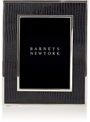 "Barneys New York Lizard-Embossed 5"" x 7"" Picture Frame"