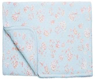 Mud Pie Blue Rose Interlock-Blanket