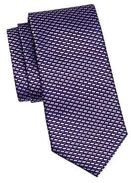 Ermenegildo Zegna Men's Diamond Stripe Silk Tie