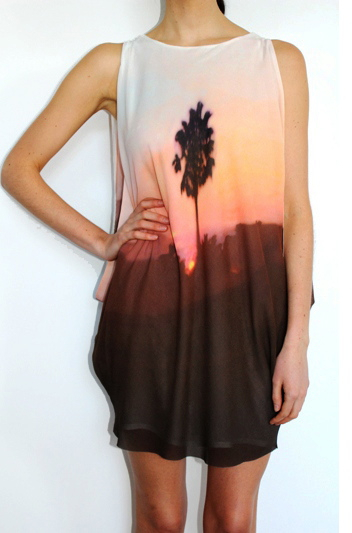 Willow Palm Placement Cascade Dress
