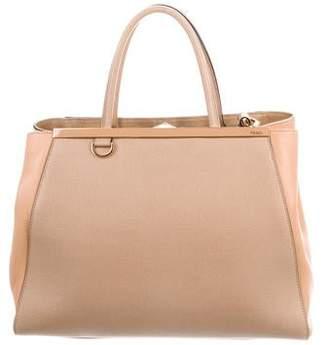 01ccea27bac Fendi Saffiano Leather 2Jours Tote Bag