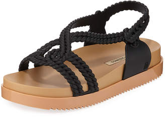 aa8cc2aa960 Melissa Shoes Cosmic Braided Ankle-Strap Jelly Sandals