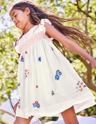 Boden Embroidered Posy Smock Dress