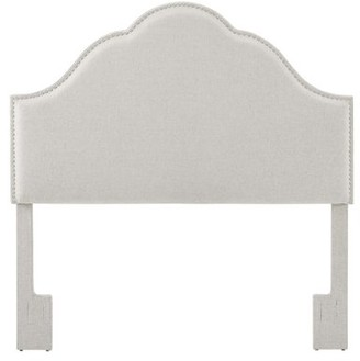 HomeFare York Style Upholstered King / Cal King Headboard in Natural White