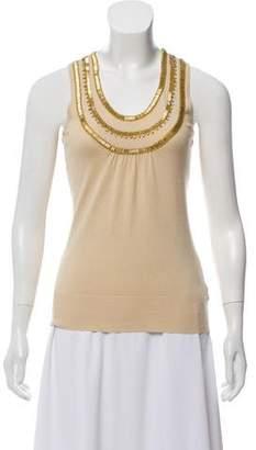 MICHAEL Michael Kors Sleeveless Embellished Sweater