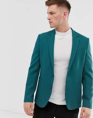 Asos Design DESIGN relaxed blazer in teal