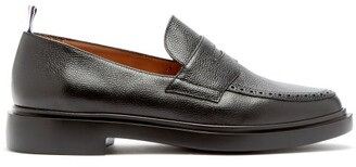 Thom Browne Textured Leather Penny Loafers - Mens - Black