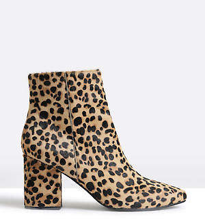 Sol Sana New Solsana Womens Tegan Boots In Leopard Print Boots Ankle Animal Print