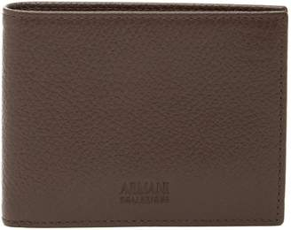 Armani Collezioni Pebbled Leather Bifold Wallet