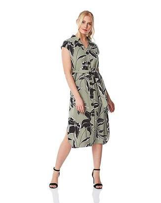 f8d874845 Roman Originals Roman Floral Belted Shirt Midi Dress