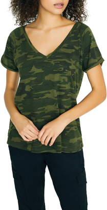 Sanctuary Camo Cotton Blend Tee