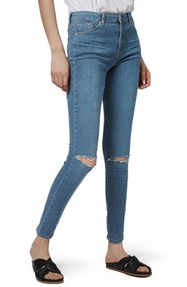Women's Topshop Leigh Ripped Skinny Jeans $70 thestylecure.com