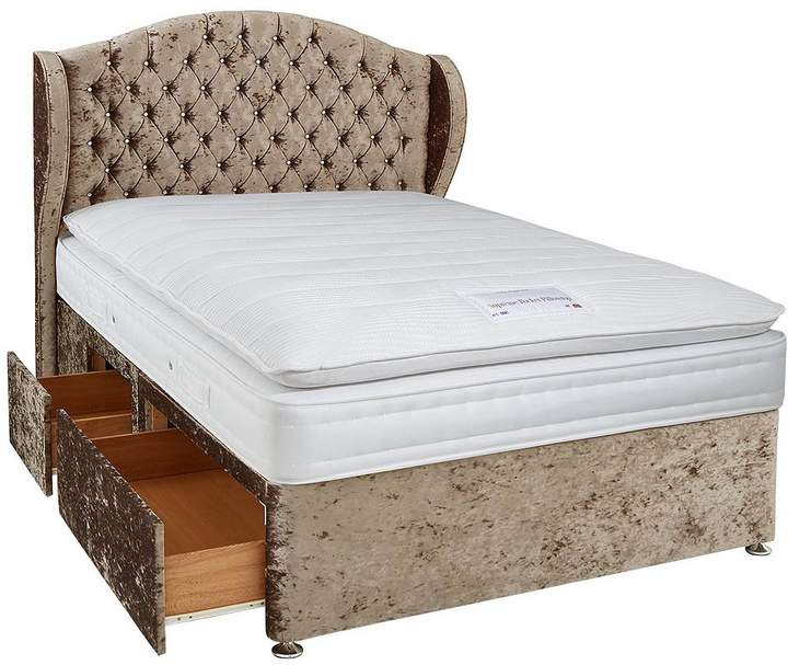 Luxe Collection From Airsprung Bardot 1000 Spring Pillowtop Divan With Storage Options