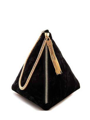 Street Level Pryramid Velvet Bag