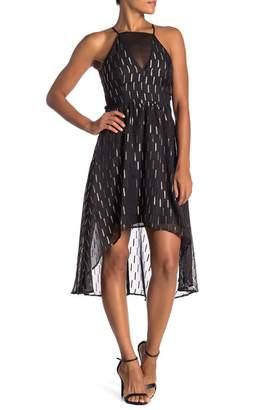 GUESS Hi-Lo Mesh Cutout Dress