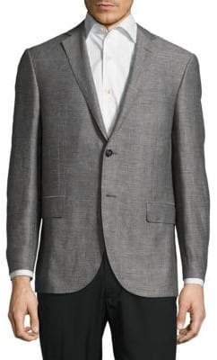 Corneliani Textured Notch-Lapel Jacket