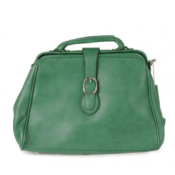 People's Choice Womens Green Across Body Satchel Bag
