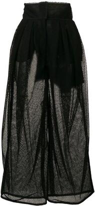 Dolce & Gabbana mesh high-rise trousers