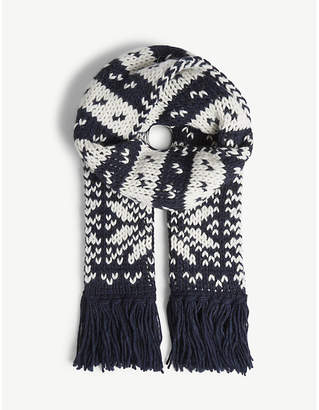 Claudie Pierlot Apogee knitted wool-blend scarf