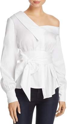 Bardot Karlie Asymmetric Shirt - 100% Exclusive $99 thestylecure.com