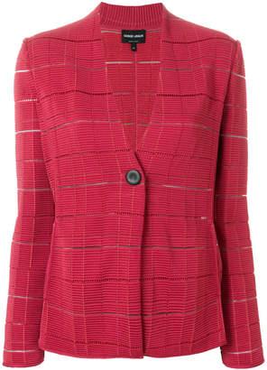 Giorgio Armani ribbed button up jacket