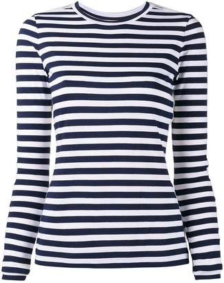 Natasha Zinko lace insert striped top
