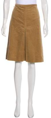 Burberry Corduroy Knee-Length Skirt
