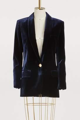Balmain Velvet oversize jacket