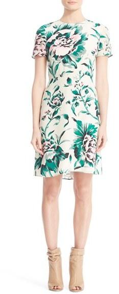 Women's Burberry Sam Floral Print Silk Dress