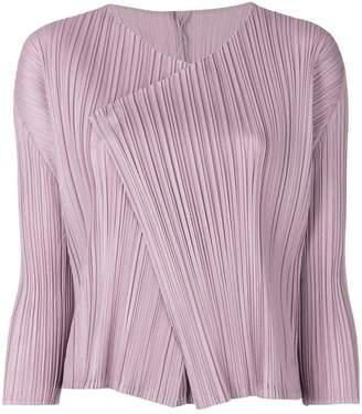 Pleats Please Issey Miyake pleated design jacket