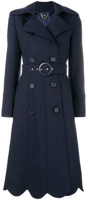 Elisabetta Franchi belted double-breasted coat