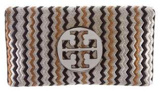 Tory Burch Embroidered Flap Clutch