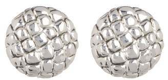 Simon Sebbag Sterling Silver Croc Embossed Button Earrings