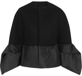 Rick Owens - Shell-paneled Wool-blend Gabardine Jacket - Black $1,950 thestylecure.com