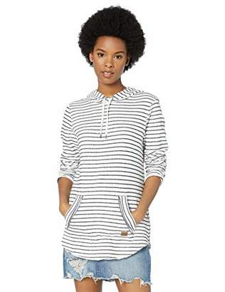 Roxy Junior's Times Passed Striped Hooded Sweatshirt,XL