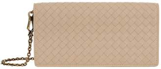 Bottega Veneta Leather Intrecciato Chain Wallet Bag