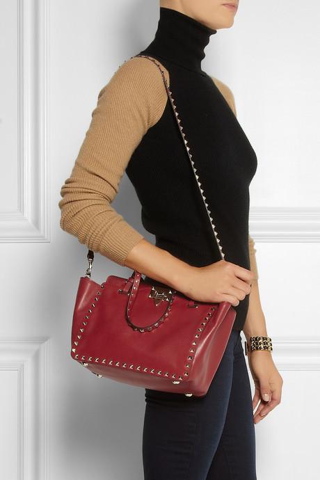 Valentino The Rockstud mini leather trapeze bag