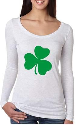 DAY Birger et Mikkelsen Allntrends Women's Shirt Green Shamrock Graphic St Patrick's Shirt (M, )