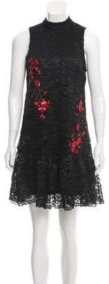 Nicole Miller Sequin-Accented Lace Mini Dress w/ Tags