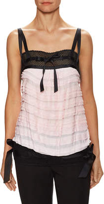 Chanel Lace Inset Tiered Top