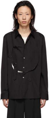 Comme des Garcons Black Cotton Bib Shirt