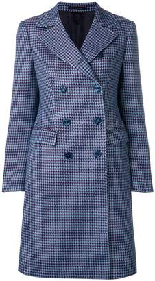 Tagliatore checked double breasted coat