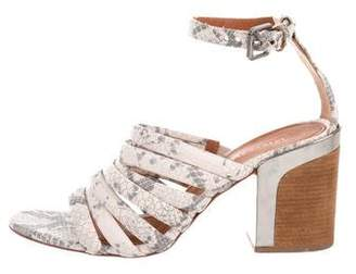 Rebecca Minkoff Snakeskin Multi Strap Sandals
