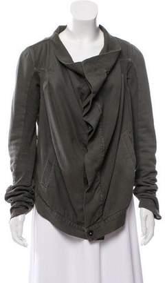 Rick Owens Denim Knit-Trimmed Jacket