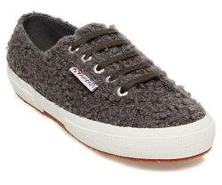 Superga Faux Fur Platform Sneakers