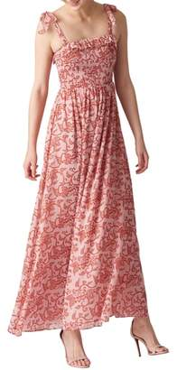 Whistles Bali Print Maxi Dress