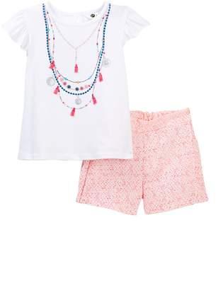 Petit Lem Global Tribe Top & Shorts Set (Toddler Girls)