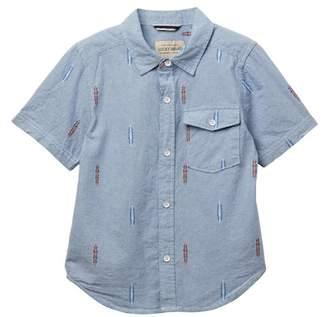 Lucky Brand Short Sleeve Chambray Shirt (Little Boys)
