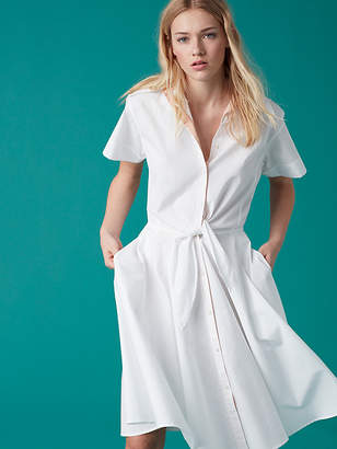 Short Sleeve Collared Shirt Dress $348 thestylecure.com