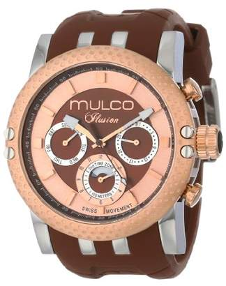 Mulco Unisex MW3-11169-033 Lincoln Illusion Chronograph Analog Swiss Movement Watch
